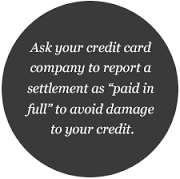 report settlement as paid in full