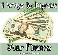 improve the condition of your finances